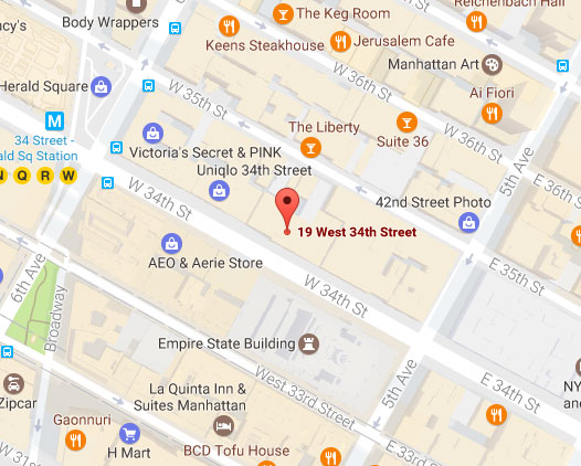 19 West 34th Street, New York, NY Map